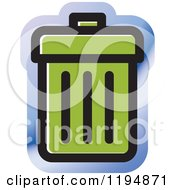 Clipart Of A Trash Bin Office Icon Royalty Free Vector Illustration by Lal Perera