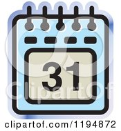 Clipart Of A Calendar Office Icon Royalty Free Vector Illustration by Lal Perera