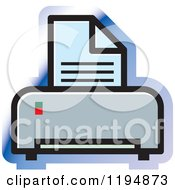 Clipart Of A Printer Office Icon Royalty Free Vector Illustration by Lal Perera