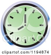 Clipart Of A Wall Clock Office Icon Royalty Free Vector Illustration by Lal Perera