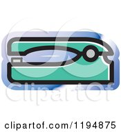 Clipart Of A Stapler Office Icon Royalty Free Vector Illustration by Lal Perera