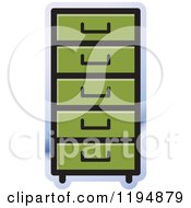 Clipart Of A File Cabinet Office Icon Royalty Free Vector Illustration by Lal Perera