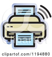 Clipart Of A Fax Machine Office Icon Royalty Free Vector Illustration by Lal Perera