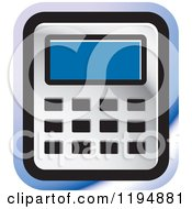 Clipart Of A Calculator Office Icon Royalty Free Vector Illustration by Lal Perera