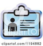 Clipart Of An ID Office Icon Royalty Free Vector Illustration by Lal Perera
