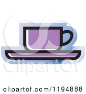 Clipart Of A Tea Or Coffee Office Icon Royalty Free Vector Illustration by Lal Perera