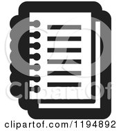 Clipart Of A Black And White Paper Document Office Icon Royalty Free Vector Illustration by Lal Perera