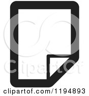Clipart Of A Black And White New Paper Document Office Icon Royalty Free Vector Illustration by Lal Perera
