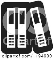 Clipart Of A Black And White Binder Office Icon Royalty Free Vector Illustration