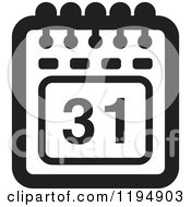 Clipart Of A Black And White Calendar Office Icon Royalty Free Vector Illustration