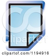 Clipart Of A New Paper Document Office Icon Royalty Free Vector Illustration by Lal Perera