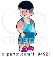 Clipart Of A Happy Boy Royalty Free Vector Illustration