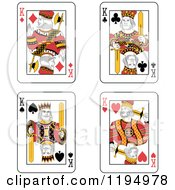 Clipart Of King Playing Cards Royalty Free Vector Illustration