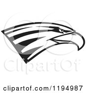 Clipart Of A Black And White Eagle Head Royalty Free Vector Illustration by Johnny Sajem