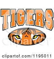 Clipart Of TIGERS Text Over An Eyes Oval Royalty Free Vector Illustration by Johnny Sajem