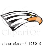 Clipart Of A Bald Eagle Head Royalty Free Vector Illustration