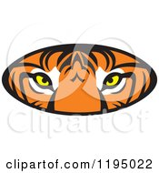 Clipart Of A Tiger Eyes Oval Royalty Free Vector Illustration by Johnny Sajem