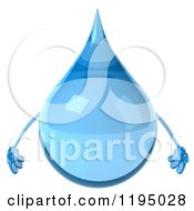 Clipart Of A 3d Water Droplet Royalty Free CGI Illustration