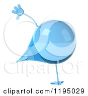 Clipart Of A 3d Water Droplet Cartwheeling Royalty Free CGI Illustration