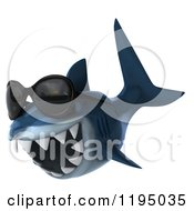 Clipart Of A 3d Shark Wearing Sunglasses 2 Royalty Free CGI Illustration