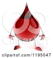 Clipart Of A 3d Hot Water Or Blood Drop Mascot Pouting Royalty Free CGI Illustration