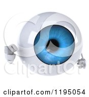 Clipart Of A 3d Blue Eyeball Mascot Pointing At You Royalty Free CGI Illustration
