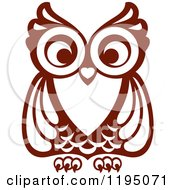 Clipart Of A Brown Owl 7 Royalty Free Vector Illustration by Vector Tradition SM