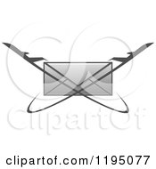 Clipart Of A Gray Envelope With Jets Royalty Free Vector Illustration by Vector Tradition SM