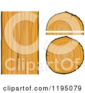 Clipart Of Wood Boards And Logs 2 Royalty Free Vector Illustration by Vector Tradition SM
