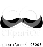 Clipart Of A Black Moustache 11 Royalty Free Vector Illustration by Vector Tradition SM