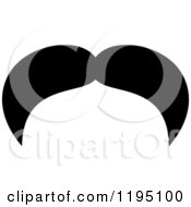 Clipart Of A Black Moustache 14 Royalty Free Vector Illustration by Vector Tradition SM