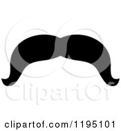 Clipart Of A Black Moustache 2 Royalty Free Vector Illustration by Vector Tradition SM