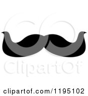 Clipart Of A Black Moustache 3 Royalty Free Vector Illustration by Vector Tradition SM