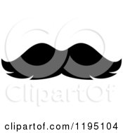 Clipart Of A Black Moustache 5 Royalty Free Vector Illustration by Vector Tradition SM