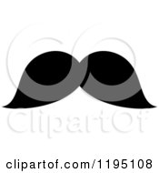 Clipart Of A Black Moustache 8 Royalty Free Vector Illustration by Vector Tradition SM