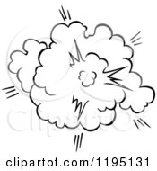 Clipart Of A Black And White Comic Burst Explosion Or Poof 12 Royalty Free Vector Illustration