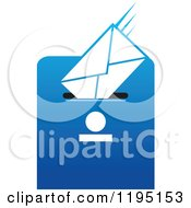Clipart Of An Envelope In A Drop Box Slot Royalty Free Vector Illustration