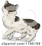 Cartoon Of A Cute Manx Kitty Cat Royalty Free Vector Clipart