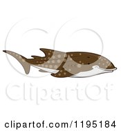 Cartoon Of A Cute Whale Shark Royalty Free Vector Clipart