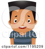 Cartoon Of A Confused Or Troubled Boy Royalty Free Vector Clipart