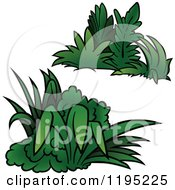 Cartoon Of Green Shrubs Royalty Free Vector Clipart by dero