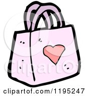 Cartoon Of A Ladies Pink Purse Royalty Free Vector Illustration by lineartestpilot