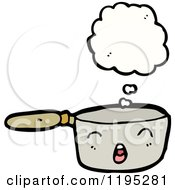 Cartoon Of A Pot Thinking Royalty Free Vector Illustration