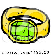 Cartoon Of A Gemstone Ring Royalty Free Vector Illustration by lineartestpilot