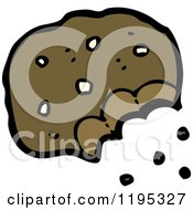 Cartoon Of A Half Eaten Cookie Royalty Free Vector Illustration