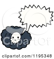 Poster, Art Print Of Cloud With A Skull Speaking