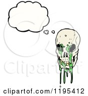 Poster, Art Print Of Skull With Slime Thinking