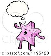 Cartoon Of A Starfish Thinking Royalty Free Vector Illustration