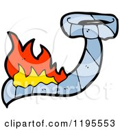 Cartoon Of A Burning Tie Royalty Free Vector Illustration by lineartestpilot