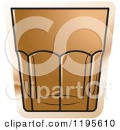 Clipart Of A Rock Glass Royalty Free Vector Illustration by Lal Perera